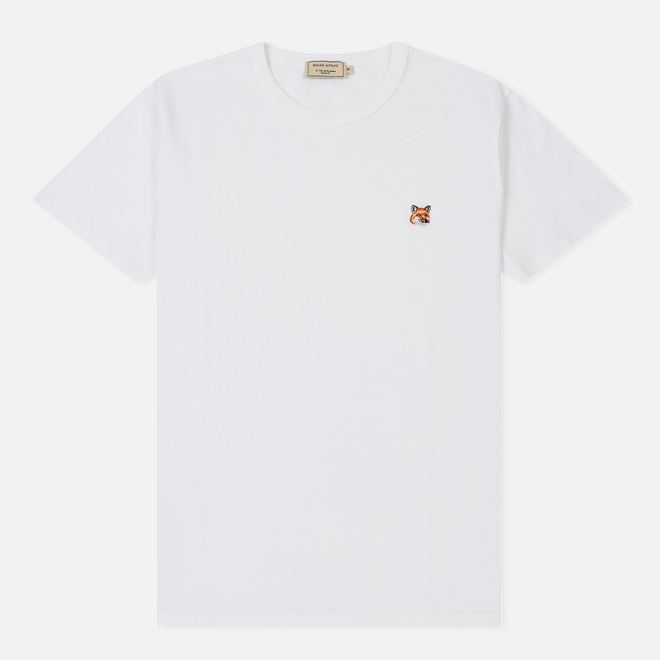 Мужская футболка Maison Kitsune Fox Head Patch White