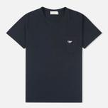 Мужская футболка Maison Kitsune Fox Patch Black фото- 0