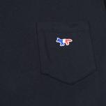 Мужская футболка Maison Kitsune Fox Patch Black фото- 2