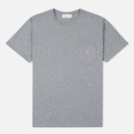 Мужская футболка Maison Kitsune Fox Patch Grey Melange фото- 0