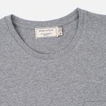 Мужская футболка Maison Kitsune Fox Patch Grey Melange фото- 1