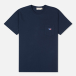 Maison Kitsune Fox Patch Men's T-shirt Navy photo- 0