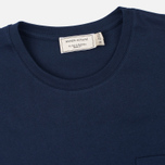 Maison Kitsune Fox Patch Men's T-shirt Navy photo- 1