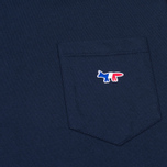 Maison Kitsune Fox Patch Men's T-shirt Navy photo- 2