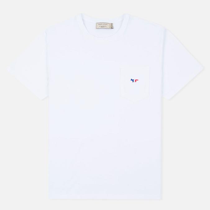Мужская футболка Maison Kitsune Fox Patch White