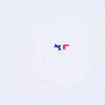 Мужская футболка Maison Kitsune Fox Patch White фото- 3