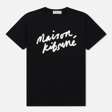 Мужская футболка Maison Kitsune Handwriting Black