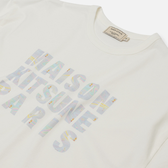 Мужская футболка Maison Kitsune Hologram Maison Kitsune White