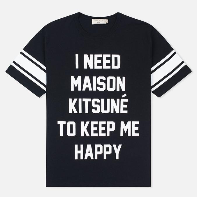 Мужская футболка Maison Kitsune I Need Black
