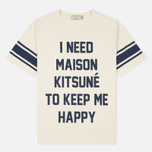 Мужская футболка Maison Kitsune I Need Ecru фото- 0