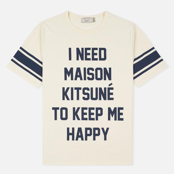 Мужская футболка Maison Kitsune I Need Ecru