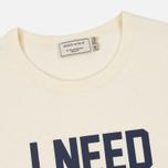 Мужская футболка Maison Kitsune I Need Ecru фото- 2
