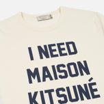 Мужская футболка Maison Kitsune I Need Ecru фото- 1