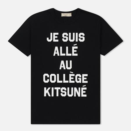 Мужская футболка Maison Kitsune Je Suis Alle Black