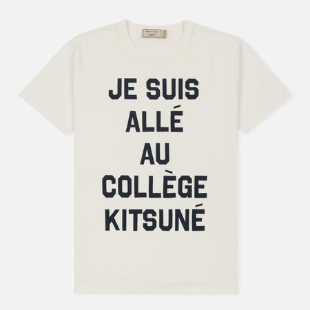 Мужская футболка Maison Kitsune Je Suis Alle Latte