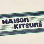 Мужская футболка Maison Kitsune Letter Stripes Navy Emerald фото- 3
