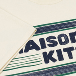Мужская футболка Maison Kitsune Letter Stripes Navy Emerald фото- 4