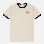 Мужская футболка Maison Kitsune MK 08 Ecru Melange фото- 0