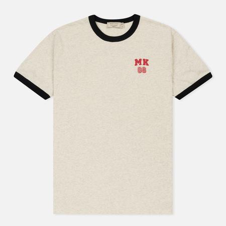 Мужская футболка Maison Kitsune MK 08 Ecru Melange