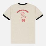 Мужская футболка Maison Kitsune MK 08 Ecru Melange фото- 3
