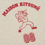 Мужская футболка Maison Kitsune MK 08 Ecru Melange фото- 4
