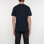 Мужская футболка Maison Kitsune MK College Navy фото- 4