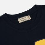 Мужская футболка Maison Kitsune MK College Navy фото- 1