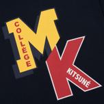 Мужская футболка Maison Kitsune MK College Navy фото- 2