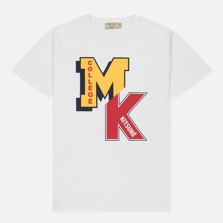 Мужская футболка Maison Kitsune MK College White