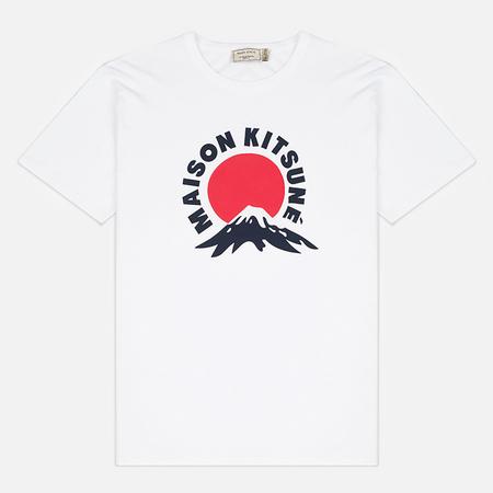 Мужская футболка Maison Kitsune Mont Fuji White