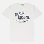 Мужская футболка Maison Kitsune Palais Royal Latte фото- 0