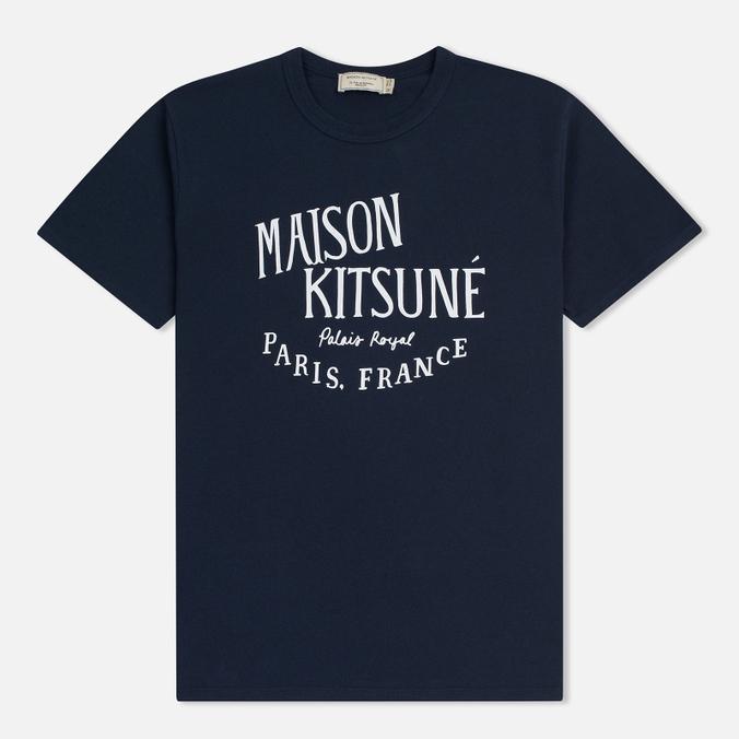 Мужская футболка Maison Kitsune Palais Royal Navy