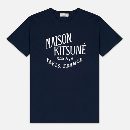 Maison Kitsune Palais Men's T-Shirt Royal Navy