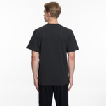Мужская футболка Maison Kitsune Pen Pocket Anthracite Melange фото- 6