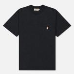 Мужская футболка Maison Kitsune Pen Pocket Anthracite Melange фото- 0