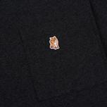 Мужская футболка Maison Kitsune Pen Pocket Anthracite Melange фото- 2