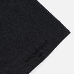 Мужская футболка Maison Kitsune Pen Pocket Anthracite Melange фото- 3