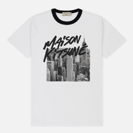 Мужская футболка Maison Kitsune Skyline White