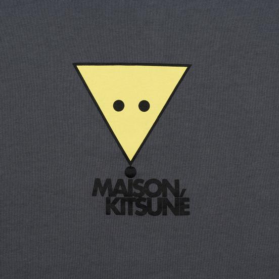 Мужская футболка Maison Kitsune Triangle Fox Anthracite