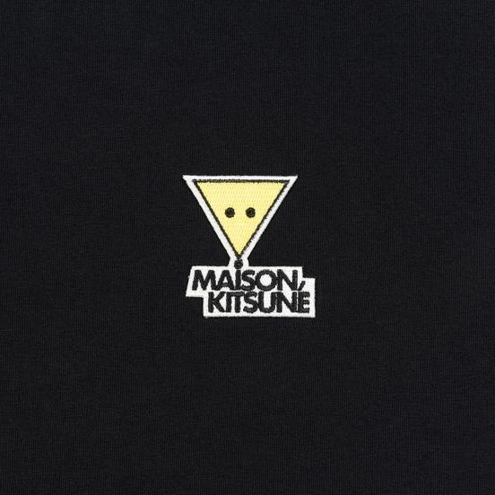 Мужская футболка Maison Kitsune Triangle Fox Patch Black
