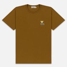 Мужская футболка Maison Kitsune Triangle Fox Patch Camel фото- 0