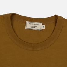 Мужская футболка Maison Kitsune Triangle Fox Patch Camel фото- 1