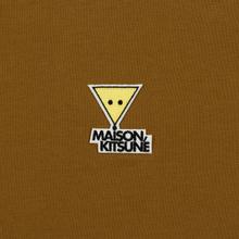 Мужская футболка Maison Kitsune Triangle Fox Patch Camel фото- 2