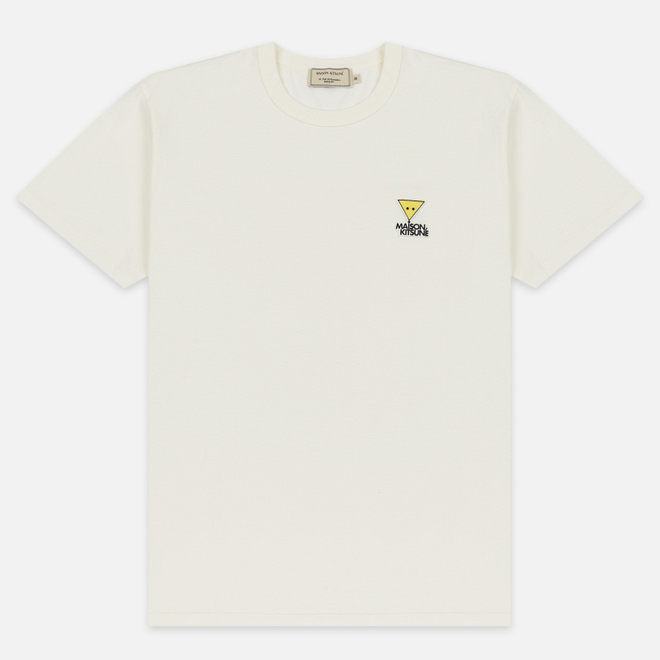 Мужская футболка Maison Kitsune Triangle Fox Patch White