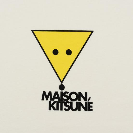 Мужская футболка Maison Kitsune Triangle Fox White