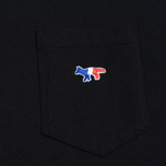 Мужская футболка Maison Kitsune Tricolor Fox Patch Black фото- 2
