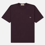 Мужская футболка Maison Kitsune Tricolor Fox Patch Burgundy фото- 0