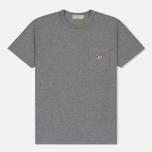 Мужская футболка Maison Kitsune Tricolor Fox Patch Grey Melange фото- 0