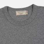 Мужская футболка Maison Kitsune Tricolor Fox Patch Grey Melange фото- 1