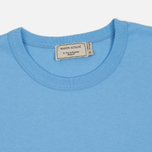 Мужская футболка Maison Kitsune Tricolor Fox Patch Light Blue фото- 1